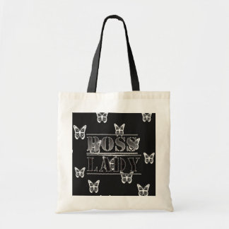 Boss Lady Butterflies Budget Tote Bags