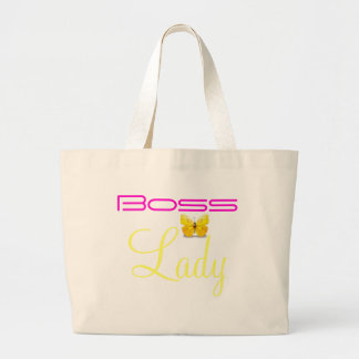 Boss Lady Butterfly Jumbo Tote Canvas Bags