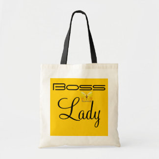 Boss Lady Butterfly Jumbo Tote Tote Bag