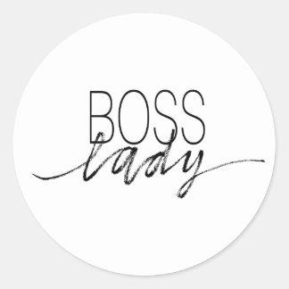 Boss Lady Classic Round Sticker