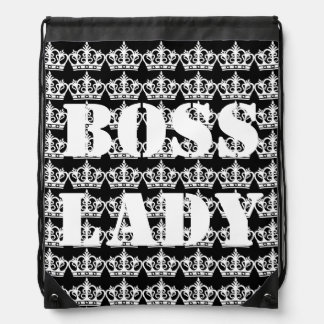 Boss Lady Crowns Drawstring Backpack