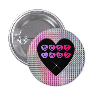 Boss Lady Diamonds and Hearts Button