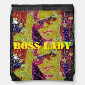 Boss Lady Diamonds Drawstring Backpack