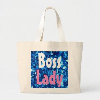Boss Lady Glitter Jumbo Tote Bag