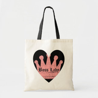 Boss Lady Heart Budget Tote Bag