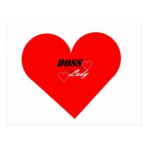 Boss Lady Heart Postcard