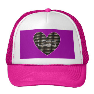 Boss Lady Heart With Sequins Trucker Hat