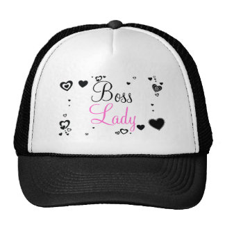 Boss Lady Hearts Trucker Hat