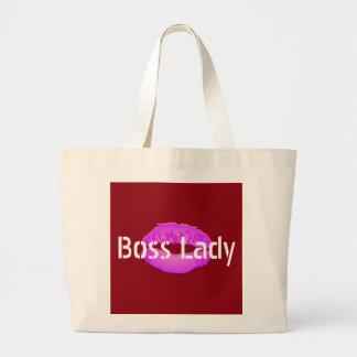 Boss Lady Lips Jumbo Tote Bag