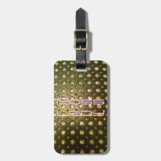 Boss Lady Luggage Tag w leather strap