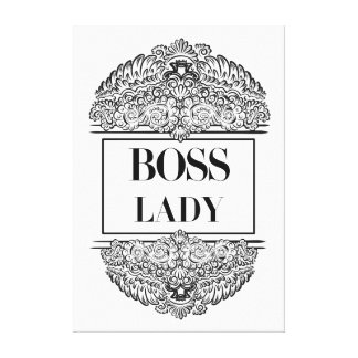 Boss Lady- Positive Quote´s Canvas Print