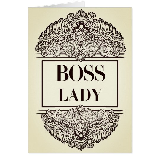 Boss Lady - Positive Quote´s Card