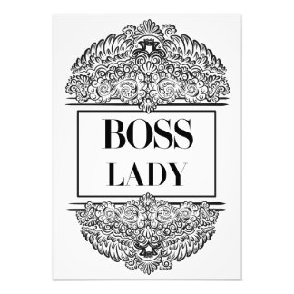 Boss Lady- Positive Quote´s Photo Print