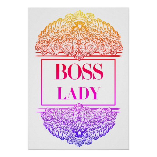 Boss Lady - Positive Quote´s Poster