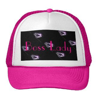 Boss Lady Purple Diamonds Trucker Hat