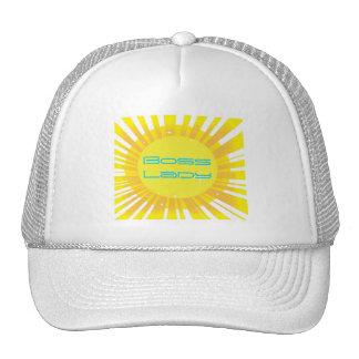 Boss Lady Sunshine Sparkle Trucker Hat