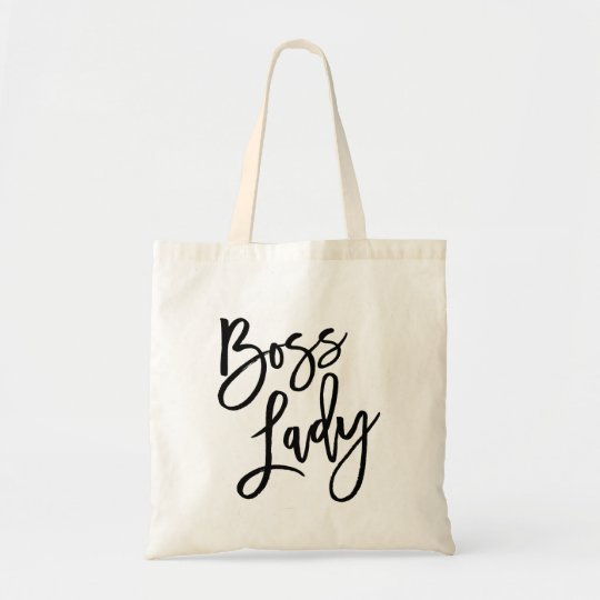 Boss Lady Trendy Lettering Tote Bag