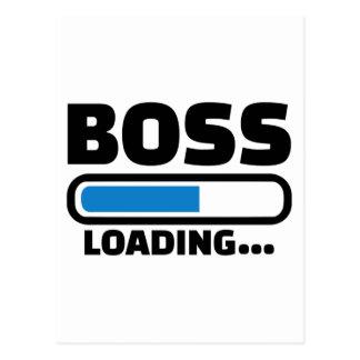 Boss loading postcard