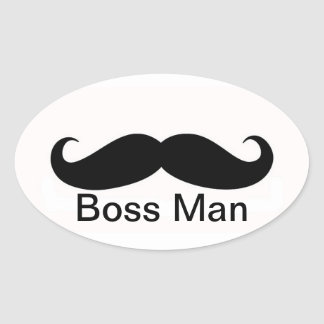 Boss Man Oval Sticker