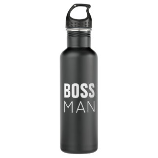 Boss Man Water Bottle | Black Stainless Steel