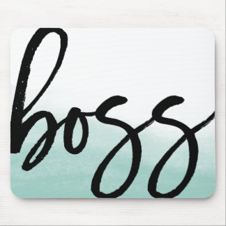 Boss Modern Typography Mouse Pad