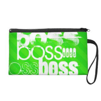 Boss; Neon Green Stripes Wristlets