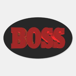 Boss Oval Sticker