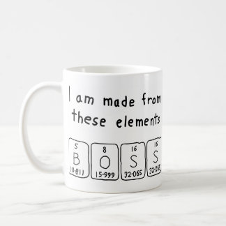 Boss periodic table name mug