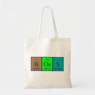 Boss periodic table name tote bag