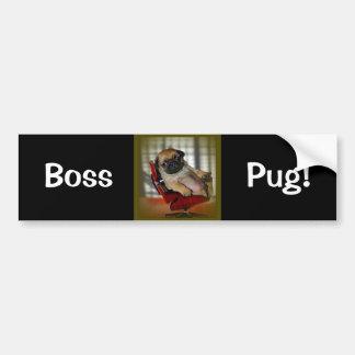 Boss Pug! Bumper Sticker