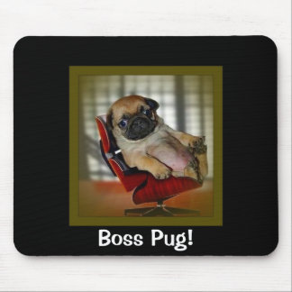 Boss Pug! Mouse Mat
