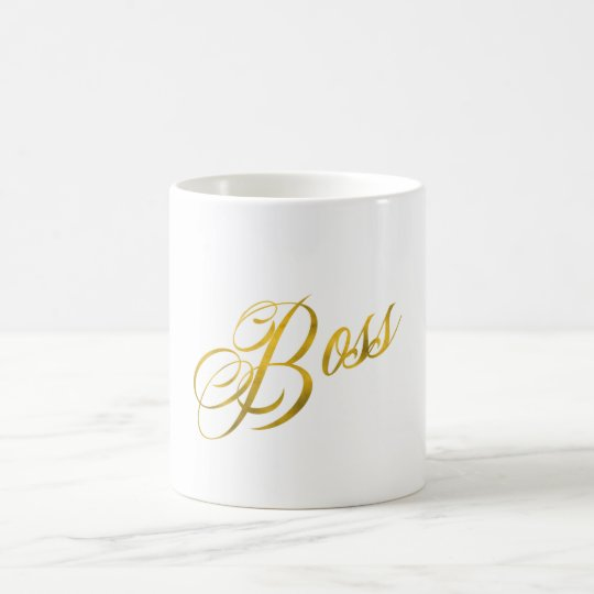 Boss Quote Faux Gold Foil Metallic Strength Coffee