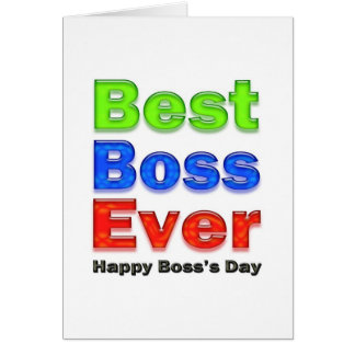 Boss s Day Best Boss Ever Cards