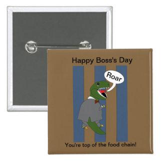 Boss s Day T-Rex Dinosaur Male Button
