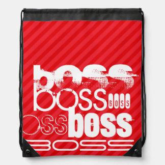 Boss; Scarlet Red Stripes Rucksack