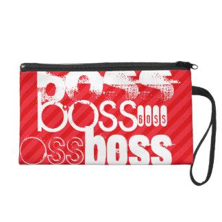 Boss; Scarlet Red Stripes Wristlet