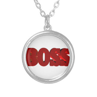 boss silver plated necklace