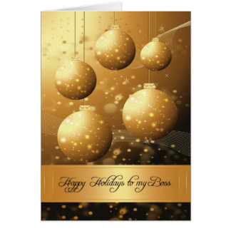 Boss stylish holiday greeting card with ornaments