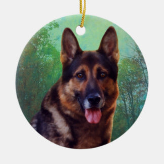 Boss the German Shepherd Christmas Ornament