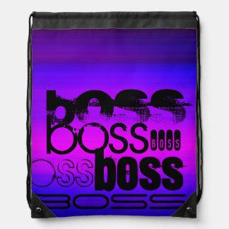 Boss; Vibrant Violet Blue and Magenta Drawstring Backpacks