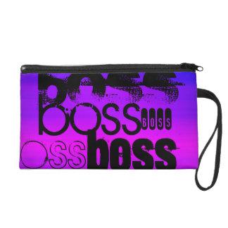 Boss; Vibrant Violet Blue and Magenta Wristlet Purses
