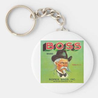 Boss Vintage Fruit Label Basic Round Button Key Ring