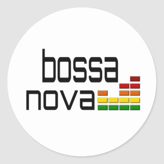 Bossa Nova Music with Stereo Equalizer Classic Round Sticker