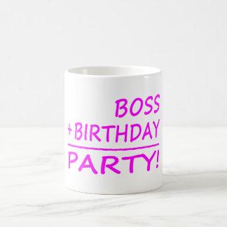 Bosses Birthdays : Boss + Birthday = Party Basic White Mug