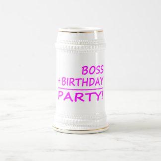 Bosses Birthdays : Boss + Birthday = Party Beer Steins