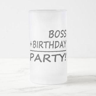 Bosses Birthdays : Boss + Birthday = Party Frosted Glass Mug