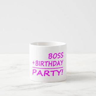 Bosses Birthdays : Boss + Birthday = Party Espresso Cup