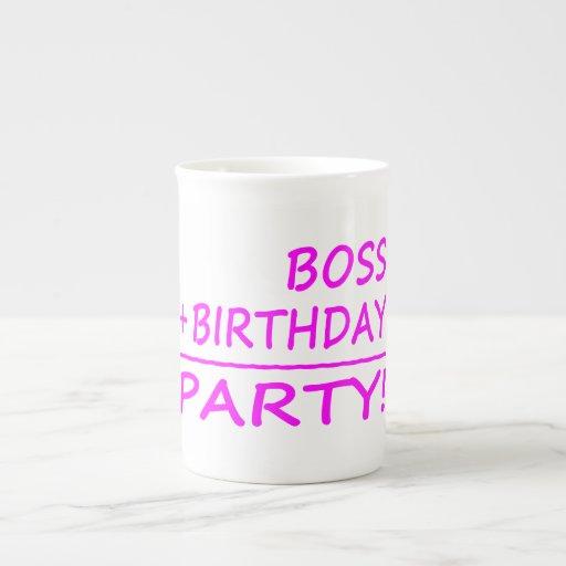 Bosses Birthdays : Boss + Birthday = Party Bone China Mug