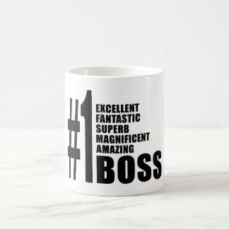 Bosses Birthdays Gifts : Number One Boss Basic White Mug