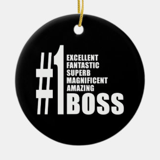Bosses Birthdays Gifts : Number One Boss Christmas Ornament